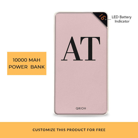 Fuchsia Initials Customized Power Bank