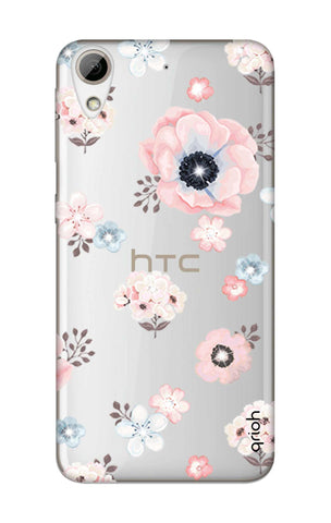 Beautiful White Floral HTC 626 Cases & Covers Online