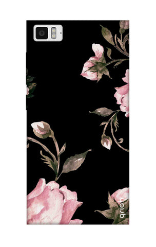 Pink Roses On Black Xiaomi Mi 3 Cases & Covers Online