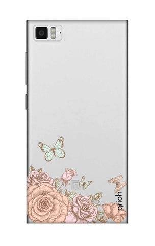 Flower And Butterfly Xiaomi Mi 3 Cases & Covers Online