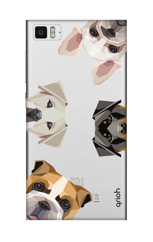 Geometric Dogs Xiaomi Mi 3 Cases & Covers Online