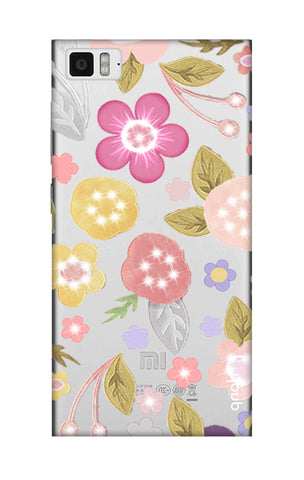 Multi Coloured Bling Floral Xiaomi Mi 3 Cases & Covers Online
