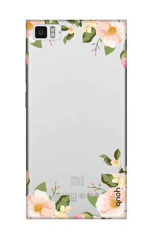 Flower In Corner Xiaomi Mi 3 Cases & Covers Online