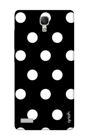 White Polka On Black Xiaomi Redmi Note Cases & Covers Online