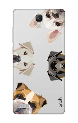 Geometric Dogs Xiaomi Redmi Note Cases & Covers Online