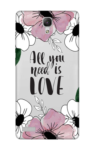 All You Need is Love Xiaomi Redmi Note Cases & Covers Online