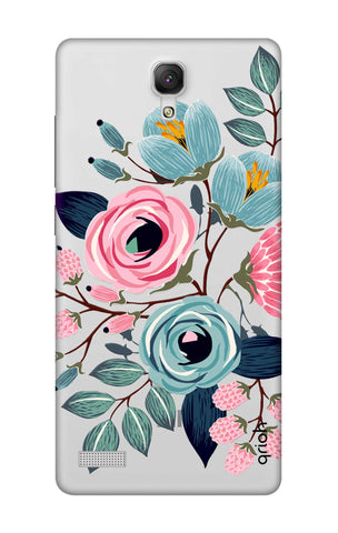 Pink And Blue Floral Xiaomi Redmi Note Cases & Covers Online