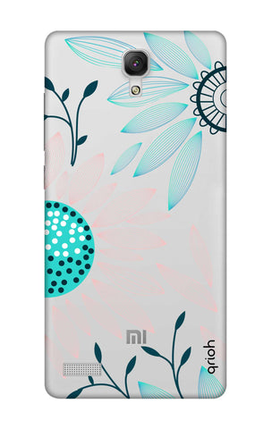 Pink And Blue Petals Xiaomi Redmi Note Cases & Covers Online