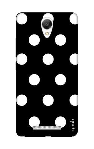 White Polka On Black Xiaomi Redmi Note 2 Cases & Covers Online