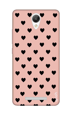 Black Hearts On Pink Xiaomi Redmi Note 2 Cases & Covers Online
