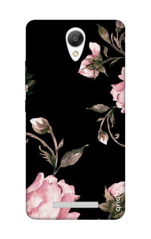 Pink Roses On Black Xiaomi Redmi Note 2 Cases & Covers Online