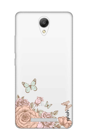 Flower And Butterfly Xiaomi Redmi Note 2 Cases & Covers Online