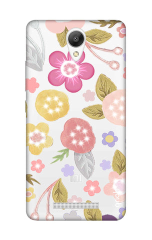 Multi Coloured Bling Floral Xiaomi Redmi Note 2 Cases & Covers Online