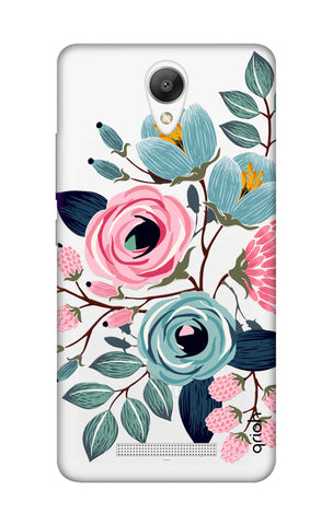 Pink And Blue Floral Xiaomi Redmi Note 2 Cases & Covers Online