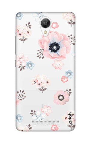 Beautiful White Floral Xiaomi Redmi Note 2 Cases & Covers Online