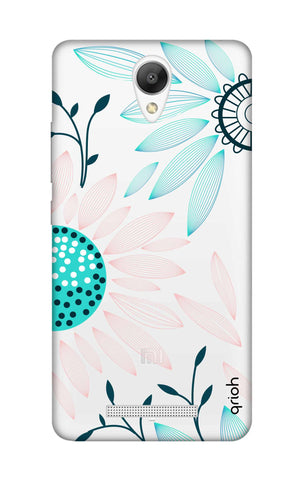 Pink And Blue Petals Xiaomi Redmi Note 2 Cases & Covers Online