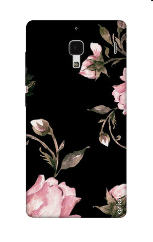 Pink Roses On Black Xiaomi Redmi 1S Cases & Covers Online