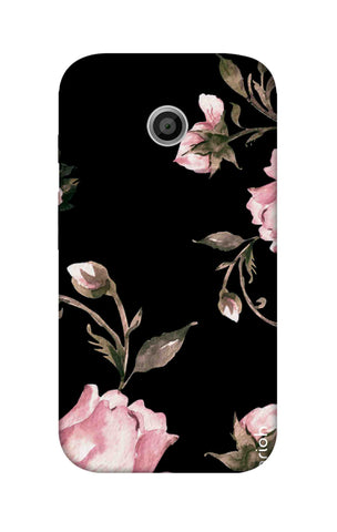 Pink Roses On Black Motorola Moto E Cases & Covers Online