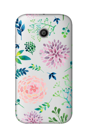 Lillies, Orchids And Leaves Motorola Moto E Cases & Covers Online