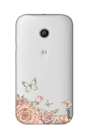 Flower And Butterfly Motorola Moto E Cases & Covers Online