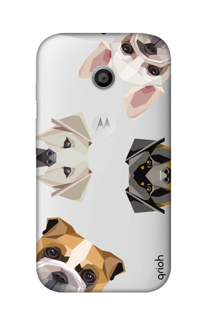 Geometric Dogs Motorola Moto E Cases & Covers Online