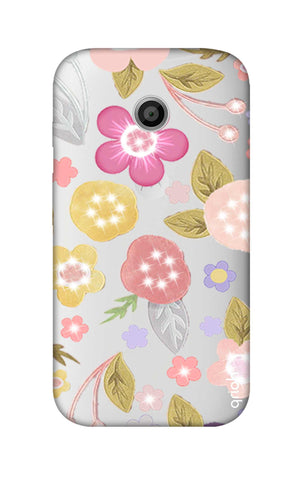 Multi Coloured Bling Floral Motorola Moto E Cases & Covers Online