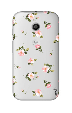 Pink Rose All Over Motorola Moto E Cases & Covers Online