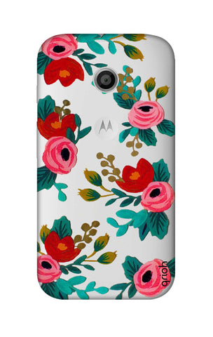 Red Floral Motorola Moto E Cases & Covers Online