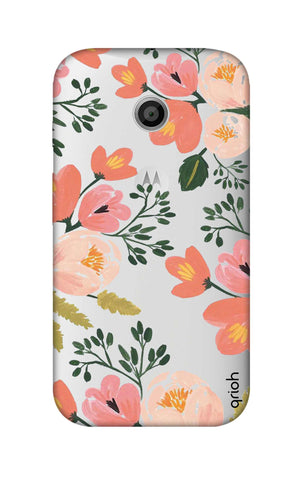 Painted Flora Motorola Moto E Cases & Covers Online