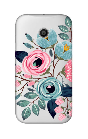 Pink And Blue Floral Motorola Moto E Cases & Covers Online