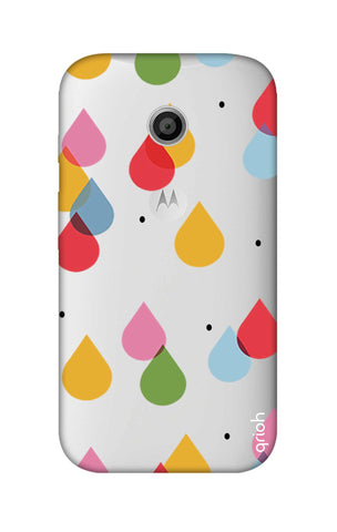 Colourful Drops Motorola Moto E Cases & Covers Online