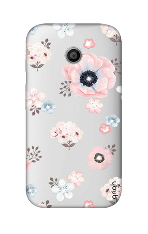 Beautiful White Floral Motorola Moto E Cases & Covers Online