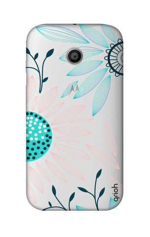 Pink And Blue Petals Motorola Moto E Cases & Covers Online