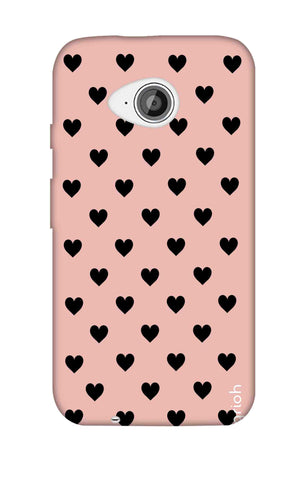 Black Hearts On Pink Motorola Moto E2 Cases & Covers Online