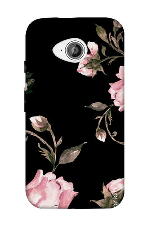 Pink Roses On Black Motorola Moto E2 Cases & Covers Online