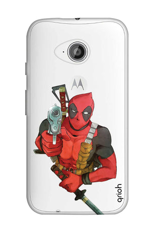 Deadpool Warrier Motorola Moto E2 Cases & Covers Online