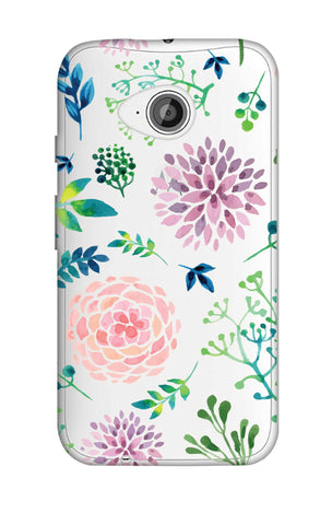 Lillies, Orchids And Leaves Motorola Moto E2 Cases & Covers Online