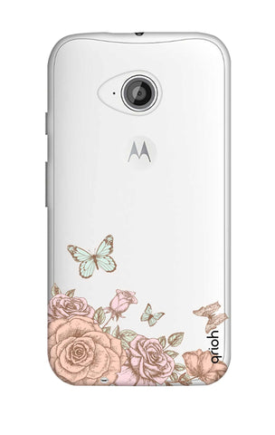 Flower And Butterfly Motorola Moto E2 Cases & Covers Online