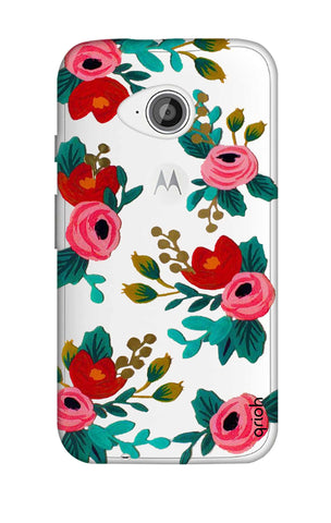 Red Floral Motorola Moto E2 Cases & Covers Online