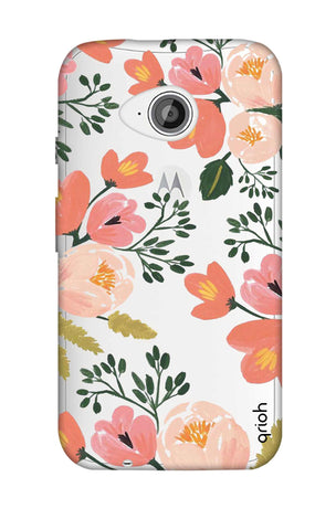 Painted Flora Motorola Moto E2 Cases & Covers Online