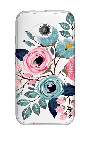 Pink And Blue Floral Motorola Moto E2 Cases & Covers Online