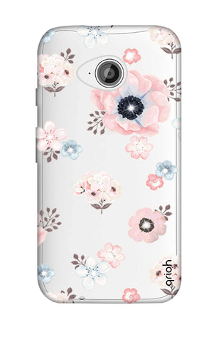 Beautiful White Floral Motorola Moto E2 Cases & Covers Online
