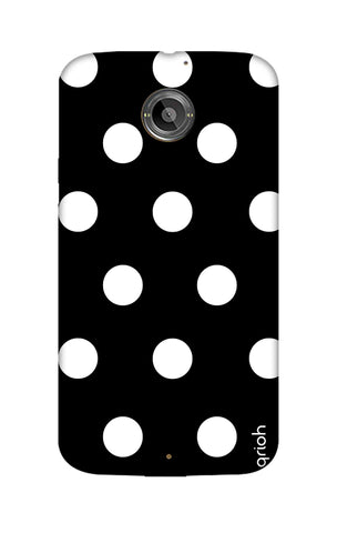 White Polka On Black Motorola Moto X2 Cases & Covers Online
