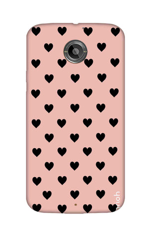 Black Hearts On Pink Motorola Moto X2 Cases & Covers Online