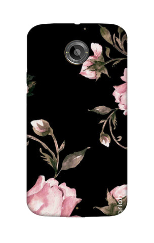Pink Roses On Black Motorola Moto X2 Cases & Covers Online