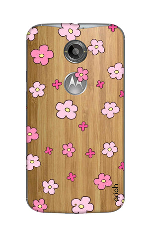 Pink Flowers All Over Motorola Moto X2 Cases & Covers Online