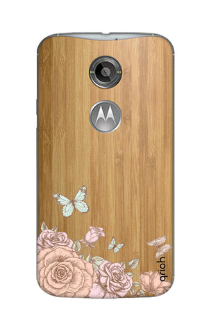 Flower And Butterfly Motorola Moto X2 Cases & Covers Online