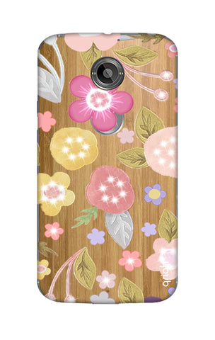 Multi Coloured Bling Floral Motorola Moto X2 Cases & Covers Online
