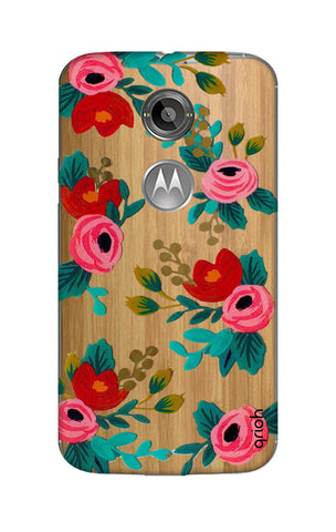 Red Floral Motorola Moto X2 Cases & Covers Online