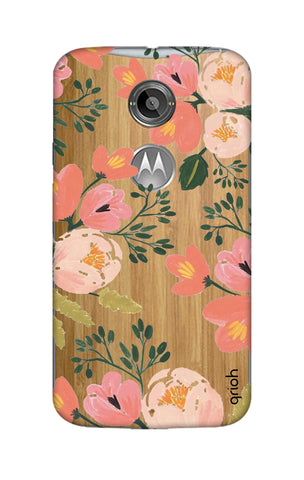 Painted Flora Motorola Moto X2 Cases & Covers Online